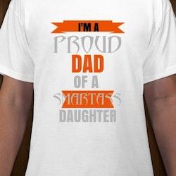 Proud Dad To A Smartass Daughter T-Shirt Herr