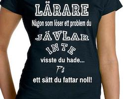 Lärare T-Shirt Dam