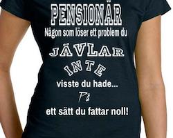 Pensionär T-Shirt Dam