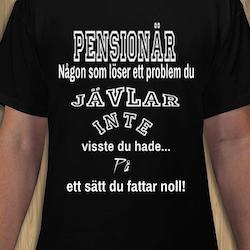 Pensionär T-Shirt Herr