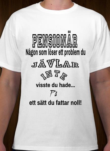Tshirt Pensionär-Vit Tshirt Herr