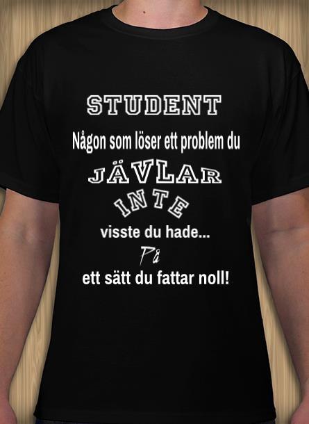 Tshirt Student-Svart Tshirt Herr