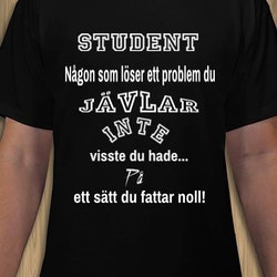 Student T-Shirt Herr Svart/Vit