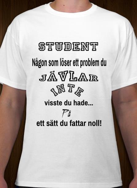 Tshirt Student-Vit Tshirt Herr