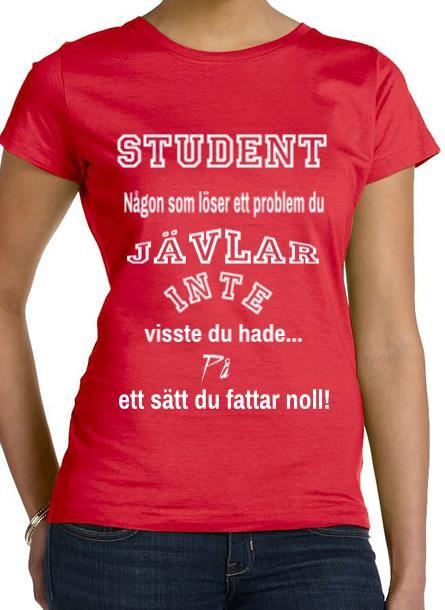 Tshirt Student-Röd Tshirt Dam