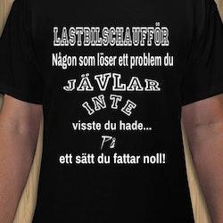 Lastbils Chaufför T-Shirt Herr
