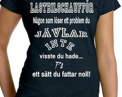Lastbils Chaufför T-Shirt Dam