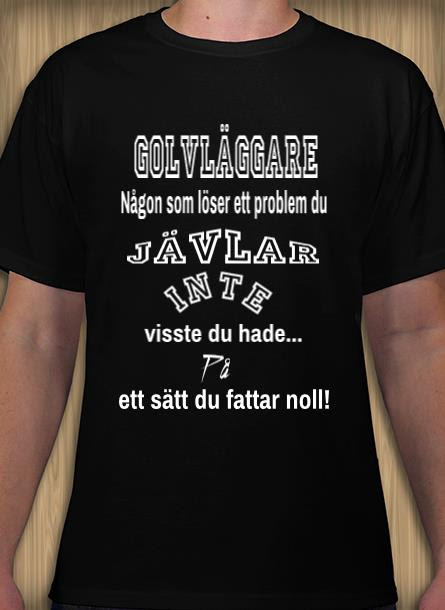 Tshirt Golvläggare-Svart Tshirt Herr