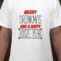 Merry Drinkmas T-Shirt Herr Svart/Vit/Röd