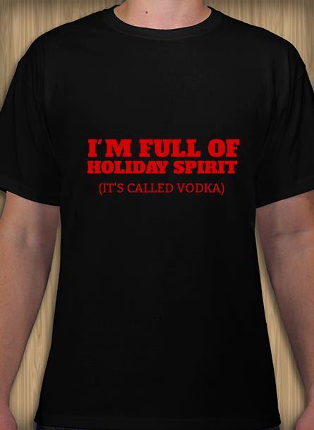 T-Shirt-Holiday Spirit-Svart-Tshirt Herr