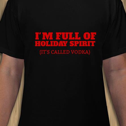Holiday Spirit T-Shirt Herr Svart/Vit/Röd