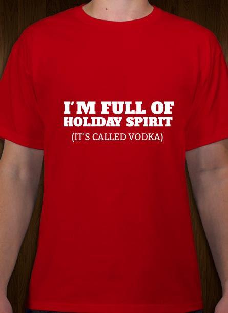 T-Shirt-Holiday Spirit-Röd-Tshirt Herr