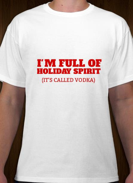 T-Shirt-Holiday Spirit-Vit-Tshirt Herr