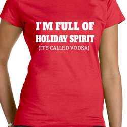Holiday Spirit T-Shirt Dam Svart/Vit/Röd