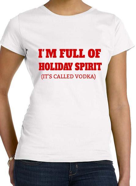 T-Shirt-Holiday Spirit-Vit Dam Tshirt