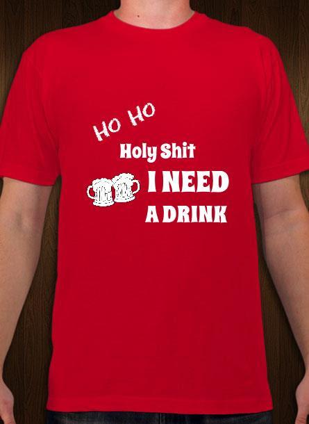 T-Shirt Ho Ho-Röd-Tshirt Herr