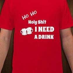 Ho Ho T-Shirt Herr Svart/Röd