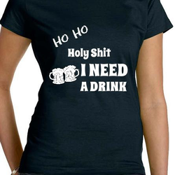 Ho Ho T-Shirt Dam Svart/Röd