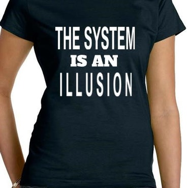Illusion T-Shirt Dam Svart/Vit
