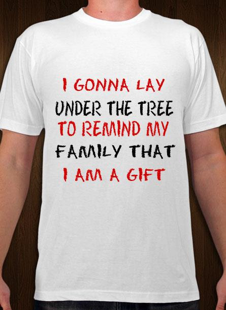 T-Shirt-Remind My Family-Vit Tshirt Herr