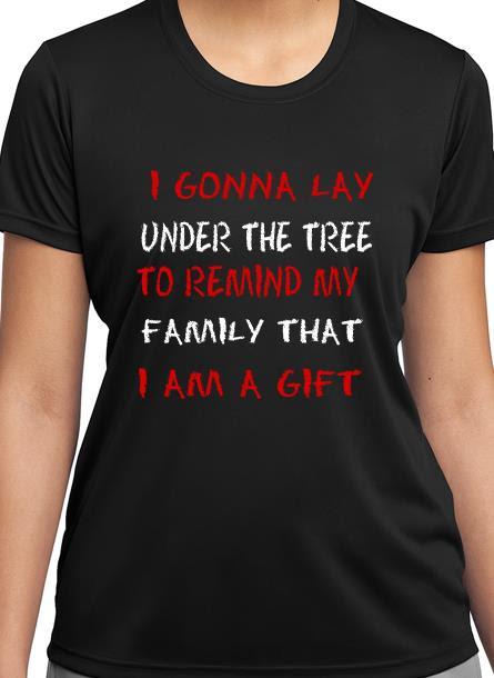 T-Shirt Remind My Family-Svart Tshirt Dam