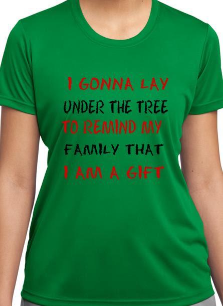 T-Shirt Remind My Family-Grön Tshirt Dam