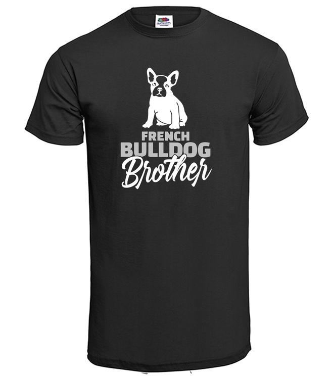 TShirt-Fransk Bulldog Brother-Svart-T-Shirt-Herr