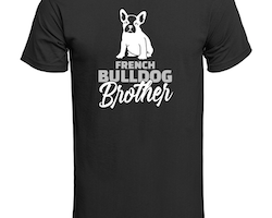 Fransk Bulldog Brother T-Shirt Herr