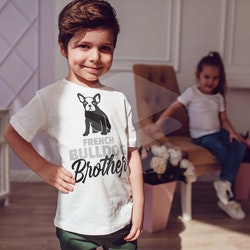 Fransk Bulldog Brother T-Shirt Barn