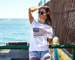 USA Flagga T-Shirt Dam