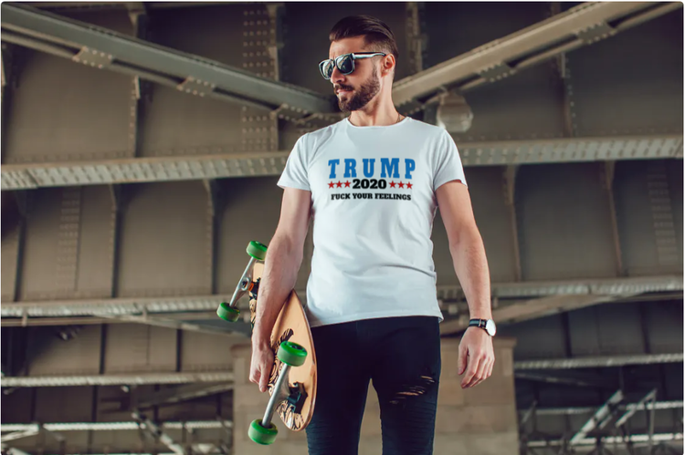 TShirt Trump 2020 Vit Herr T-Shirt1
