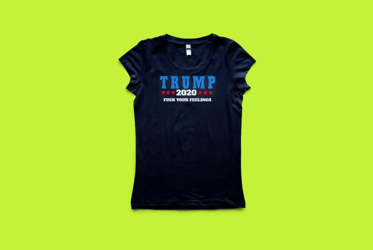 T-Shirt Trump 2020 Svart Tshirt Dam Display