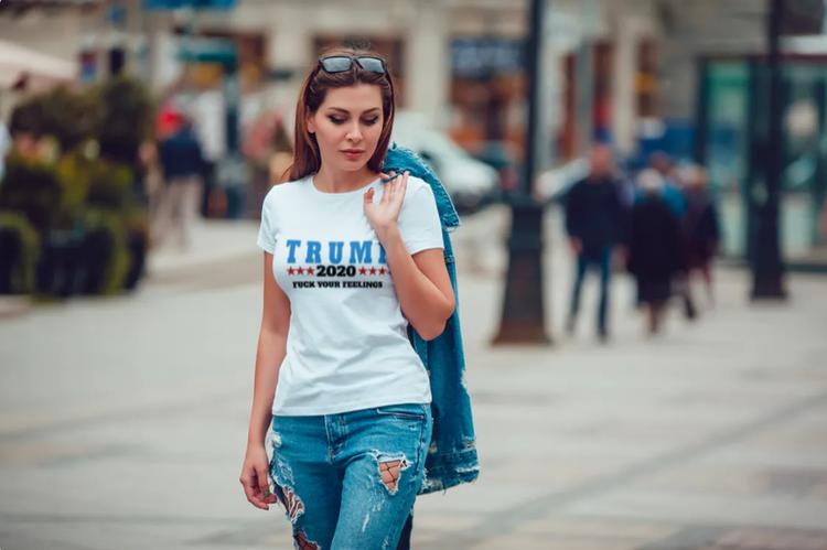 T-Shirt Trump 2020 VitTshirt Dam 1