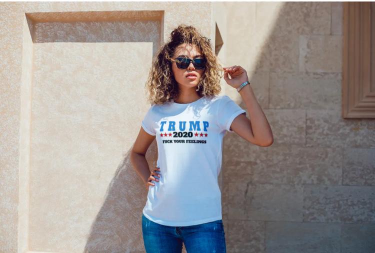 T-Shirt Trump 2020 VitTshirt Dam 2