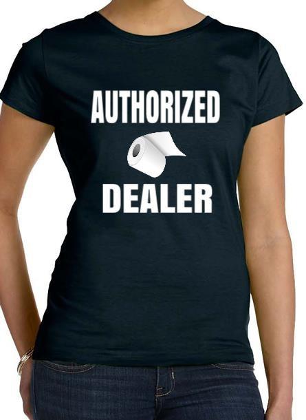 T-shirt dam Toalettpapper Tshirt dam