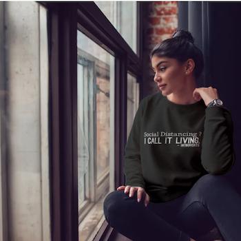 Social Distancing Sweatshirt Unisex