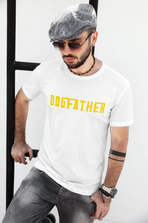 Dogfather T-Shirt med tryck.Dogfather Tshirt med tryck,Godfather TShirt print Men. Dogfather