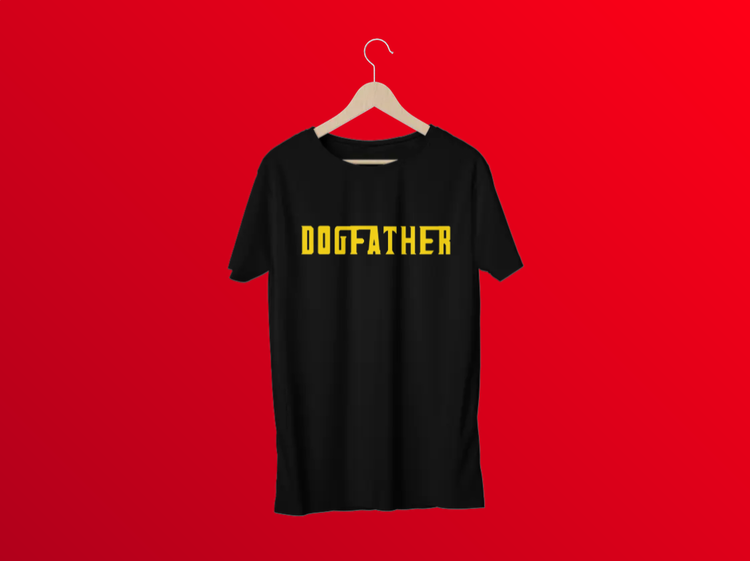 T-Shirt med tryck.Dogfather Tshirt Svart,Godfather TShirt print Men. Dogfather the ultimate T-Shirt. Perfekt gåva till någon Husse