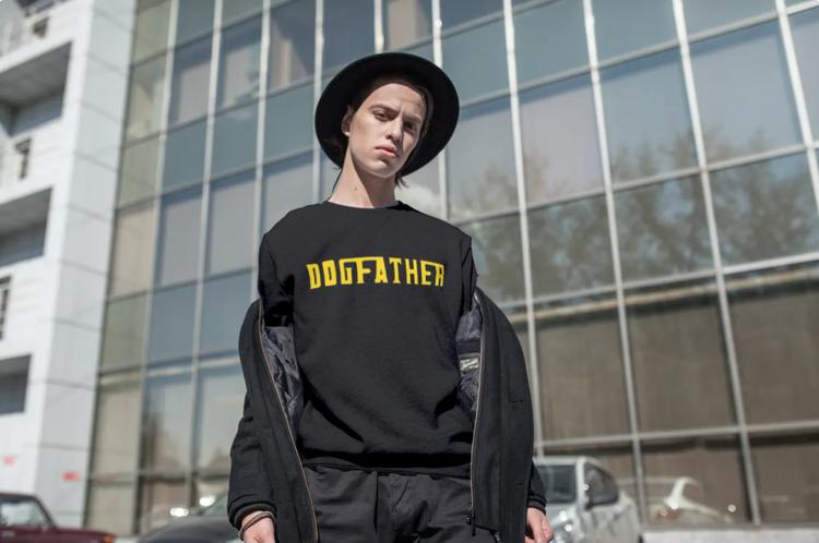 Sweatshirt-Dogfather-Svart-Unisex-Sweatshirt