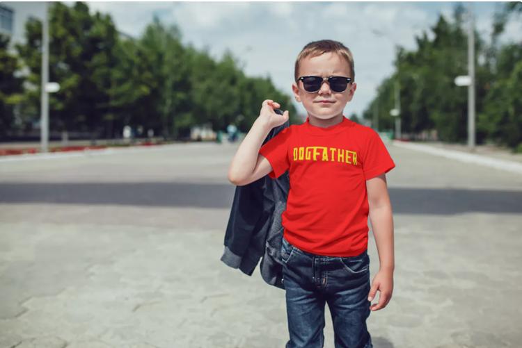 T-Shirt-Dogfather-Barn-Röd-Tshirt