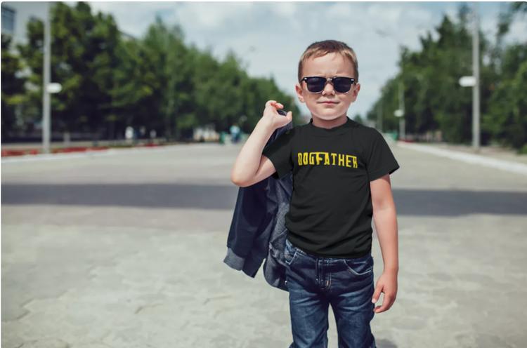 T-Shirt-Dogfather-Barn-Svart-Tshirt