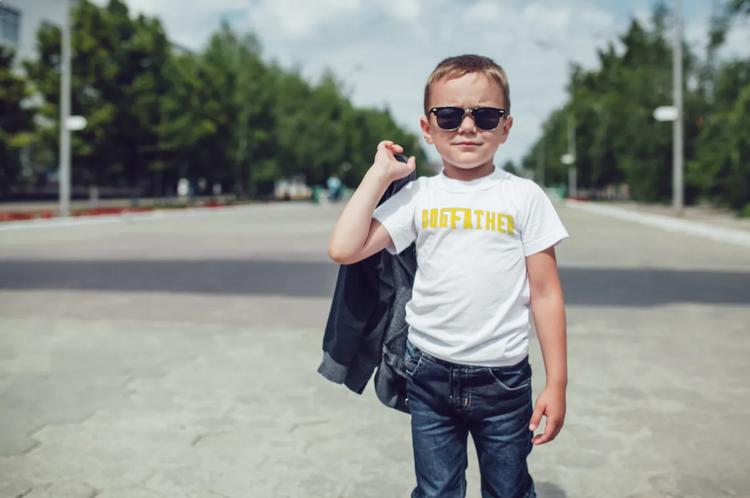 T-Shirt-Dogfather-Barn-Vit-Tshirt