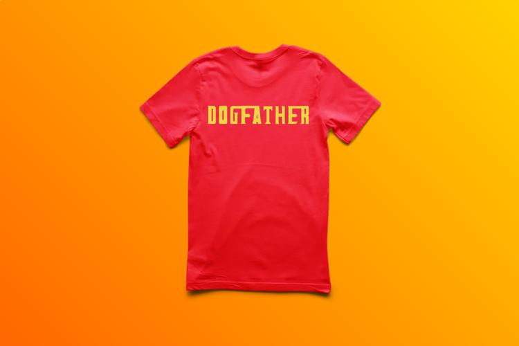 T-Shirt-Dogfather-Barn-Röd-Tshirt-Showcase