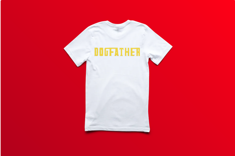 T-Shirt-Dogfather-Barn-Vit-Tshirt-Showcase