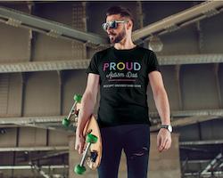 Proud Autism Dad T-Shirt Herr