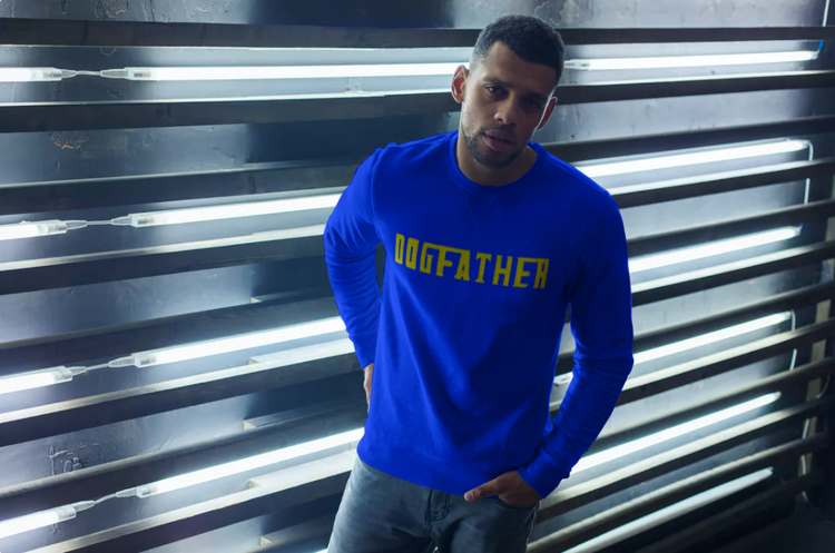 Sweatshirt-Dogfather-Blå färg-Unisex-Sweatshirt