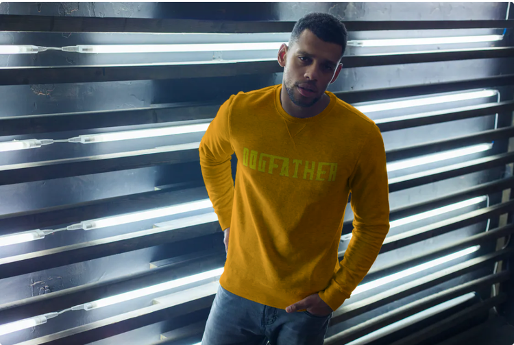 Sweatshirt-Dogfather-Orange-Unisex-Sweatshirt