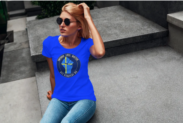 Byt Corona Strategi Nu T-Shirt Dam-Blå