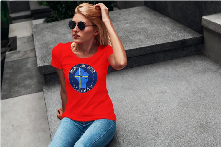T-Shirt-Byt Strategi Nu-Dam-Röd