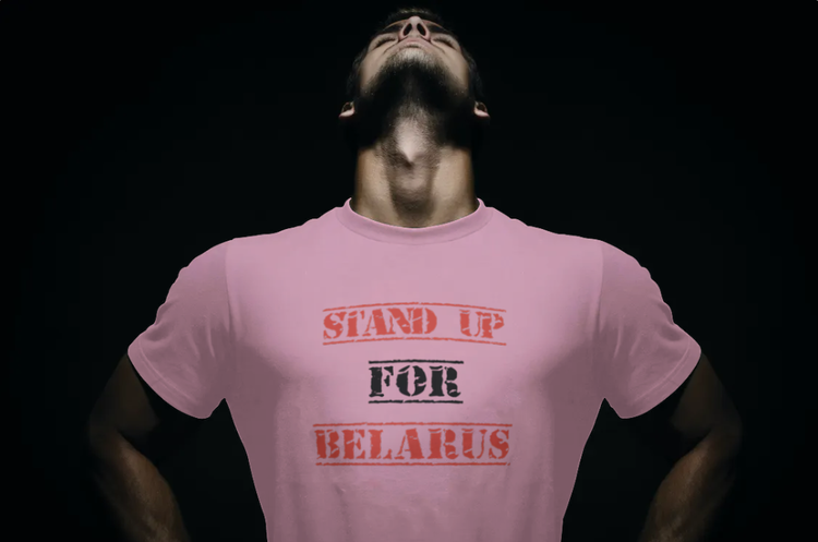 T-Shirt-Stand Up For Belarus-Rosa-Tshirt Male